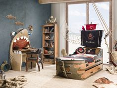 Next month Oscar is turning 3, and as I treat I want to give him his very own Pirate themed bedroom! Why not take a look at some of my favourite ideas?