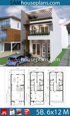 Townhouse Floor Plan Discover House Plans with 5 Bedrooms - Sam House Plans House Plans with 5 BedroomsThe House has:-Car Parking and garden-Living room-Dining Bedrooms 7 bathrooms Cob House Plans, One Bedroom House Plans, A Frame House Plans, Tree House Plans, Colonial House Plans, House Layout Plans, Ranch House Plans, Craftsman House Plans, Country House Plans