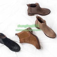 Womens Retro Suede Chukka Ankle Boots Shoes Cowboy Pull On Shoes Round Toe Hot