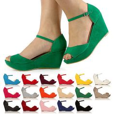 NEW SPRING SUMMER HIGH FASHION LOW MID HEEL WEDGE SANDAL PLATFORM SHOES SIZE 3-8