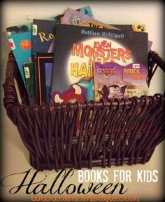 Top 10 Halloween Books for Kids! Store the themed books with your decorations and they will be exciting again every year!