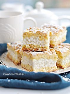 Polish Desserts, Polish Recipes, Polish Food, Vanilla Cake, Delicious Desserts, Biscuits, Cheesecake, Food And Drink, Cooking Recipes