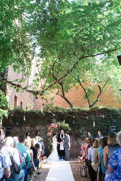 Ourdoor Ceremony | Firehouse-Restaurant-Wedding-Old-Town-Sacramento-Wedding-Photographer