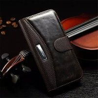 Wish   Luxury Wallet PU Leather Case For Samsung Galaxy S5 S6 S7 Edge S8 Plus A3 A5 2016 For iPhone 4 4S 5 5S SE 6 6S 7 Plus version Cover Vintage with Stand and Fashion LOGO Coque