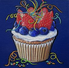 New Years Cupcake by Kathrine Allen-Coleman