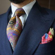 "maidoookini: "" Goooo morning My favorite paisley tie """