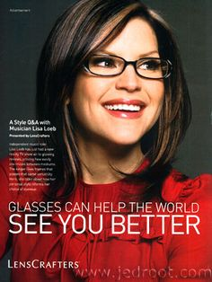 In the late I had to start regularly wearing glasses. Lisa Loeb made plastic framed glasses look cool. If she can be cute and adorable in them, I can too. Lisa Loeb, Jill Scott, Wearing Glasses, Girls With Glasses, Hey Girl, Trendy Hairstyles, Look Cool, Girly Girl, Celebrity Crush