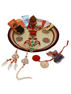 Check out what I found on the LimeRoad Shopping App! You'll love the Ethnic Style Handcrafted Designer Set of 3 Rakhis (With Decorative Thali & Pooja Samagri). See it here http://www.limeroad.com/products/11140857?utm_source=faf71db542&utm_medium=android