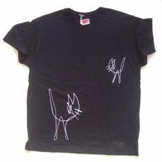 g / miauuuuus camiseta / t-shirt tela pintada a mano,, tela pintada a mano,