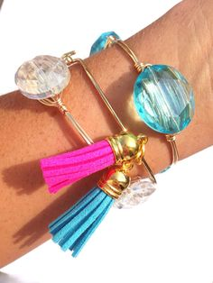 Tassel Bangle Bracelet Designer JCrew Inspired by LuELsDecor