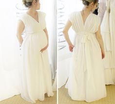 white maternity maxi dress_veronica sheaffer--in love with this dotted swiss maternity maxi dress