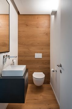 Carmel View House by Neuman Hayner Architects Location: Ein Ayala, Israel Area: 420 sqm, Plot: 2500 sqm Year: 2015 Architects: Neuman Hayner architects Photography: © Amit Gosher All images courtesy of Neuman Hayner architects Small Toilet Design, Small Toilet Room, Bathroom Design Small, Bathroom Interior Design, Modern Bathroom, Downstairs Bathroom, Bathroom Wall Decor, Bathroom Closet, Toilet Tiles