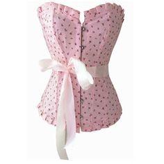 Atomic Pink Flower Field Overbust Corset | Atomic Jane Clothing www.atomicjaneclothing.com
