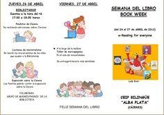 Ejemplo de folleto de programa de actividades de la biblioteca: Semana del libro 1
