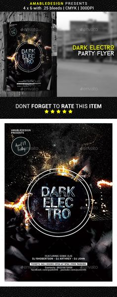 Dark Electro Flyer/Poster - Clubs & Parties Events
