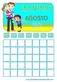 Calenndário reformulado - Agosto 2017