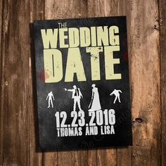 The Walking Dead inspired Save the Date - Printable and Personalized Wedding Save the Date Invitation by PrideAndPrintables on Etsy