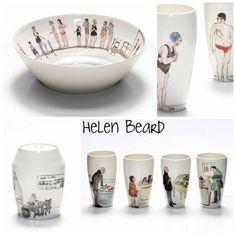 Helen Beard is a ceramics, illustrations and watercolor genius.