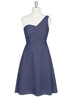AZAZIE BRYNN. Brynn is a glamorous one-shoulder knee-length number in an A-line cut. #Bridesmaid #Wedding #CustomDresses #AZAZIE