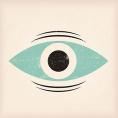 This made me think of Mary, Mungo & Midge. & I don't know why cos I just checked a picture & it doesn't look like one of their eyes. Maybe another kids' programme? Eye Illustration, Pattern Illustration, Wow Art, Surface Design, Printmaking, Print Patterns, Artsy, Graphic Design, Graphic Art