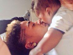 Roc Royal of Mindless Behavior  and his son, Royal.
