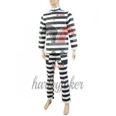 Batman Gotham 2 Penguin Oswald Cobblepot B-113 Arkham Prison Uniform Cosplay Costume