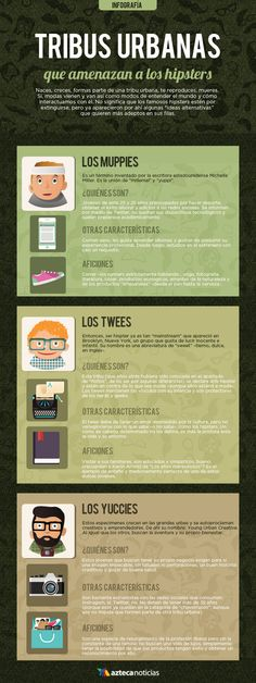 Tribus urbanas que amenazan a los hipsters #infografia