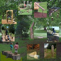 We want our playground to incorporate nature as much as possible. This is great inspiration for that!