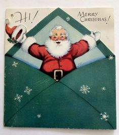 Christmas Mail, Christmas Greetings, Christmas Time, Christmas Crafts, Vintage Christmas Images, Retro Christmas, Christmas Pictures, Vintage Images, Vintage Cards
