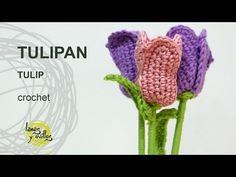 Tutorial Tulipan Crochet o Ganchillo