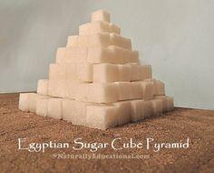Sugar Cube Pyramid for Egypt Unit