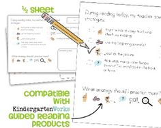 Guided Reading strategy checklist