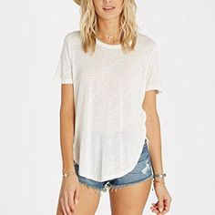 Rank & Style - Billabong Good Show Scoop Neck Basic Tee #rankandstyle