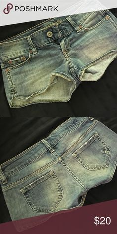AE Shorts Worn a few times. Cute eagle on the pocket. In great condition. American Eagle Outfitters Shorts Jean Shorts