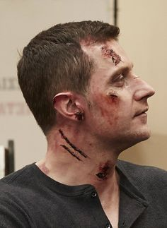 """Hannibal """"And The Beast from The Sea"""" (3x11) bts - Richard Armitage as Francis Dolarhyde/ The Great Red Dragon"""