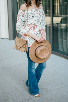 Off-The-Shoulder Top + Flare Jeans | Daily Craving