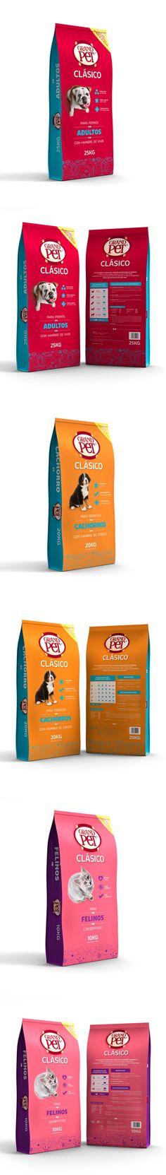 GRANDPET CLÁSICO® by Estudio Menta#pet #food #packaging for more information visit us at www.coffeebags.co.za