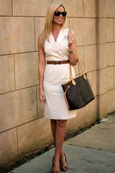 Belted wrap dress in bone - Style // Fashion // Beautiful People