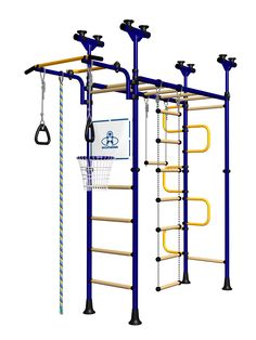 Indoor Sport Gym for Kids, model Pegasus-4.04.php - Jungle Gym with wood rungs