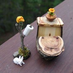 FAERY TOILET???? LOL!!!! Adorable!!!! I wonder if they poop glitter... lol!!!!!! - DIY Fairy Gardens
