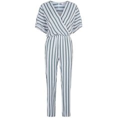 Maje Striped Jumpsuit (1.550 RON) ❤ liked on Polyvore featuring jumpsuits, striped jumpsuit, maje, maje jumpsuit, structured jumpsuit and jump suit