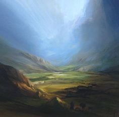 James  Naughton - Sky Opens After the Storm Oil on Board