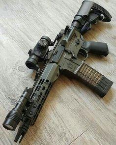 Weapons Guns, Airsoft Guns, Guns And Ammo, Ar Pistol Build, Ar15 Pistol, Rifles, Battle Rifle, Custom Guns, Military Guns