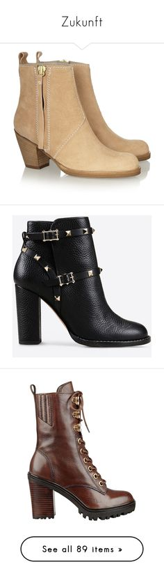 """""""Zukunft"""" by elfemme ❤ liked on Polyvore featuring shoes, boots, ankle booties, zapatos, botas, ankle boots, tassel ankle boots, round toe ankle boots, short leather boots and short boots"""