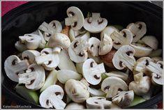 Katerina&Kuchnia: KARKÓWKA PO CYGAŃSKU NA OSTRO Mozzarella, Stuffed Mushrooms, Meat, Vegetables, Recipes, Food, Fitness, Stuff Mushrooms, Recipies