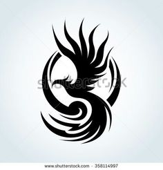 Find Phoenix Eagle Logo Template stock vectors and royalty free photos in HD. Explore millions of stock photos, images, illustrations, and vectors in the Shutterstock creative collection. of new pictures added daily. Phoenix Design, Phoenix Tattoo Design, Tribal Phoenix Tattoo, Tribal Tattoos, Phoenix Tattoo For Men, Small Tattoo Designs, Small Tattoos, Body Art Tattoos, Tattoo Drawings