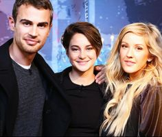 Theo James, Shailene Woodley and Ellie Goulding