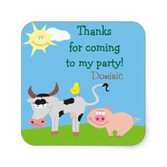 Shop Farm Animals Personalized Thank You Stickers created by goodmoments. Thank You Stickers, Different Shapes, Farm Animals, Custom Stickers, Toy Chest, Activities For Kids, Diy Projects, Scrapbook, Make It Yourself