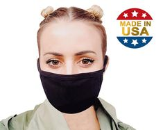 Adult Unisex Soft Cotton USA Blend Filter Pocket Mouth Mask Washable Reusable Made in USA Tough Cookie Clothing Mural Floral, Deco Champetre, Sewing Patterns, Crochet Patterns, Always Kiss Me Goodnight, Mouth Mask, Before Us, Etsy, Handmade