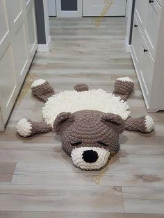 Items similar to Soft plush rug Sleeping teddy bear for children. Сrochet round beige brown mat in the nursery. For gift on Baby Shower, Birthday on Etsy – crafts gifts Crochet Gifts, Crochet Toys, Sleep Teddies, Sheep Rug, Art Texture, Knit Rug, Animal Rug, Plush Carpet, Wool Carpet